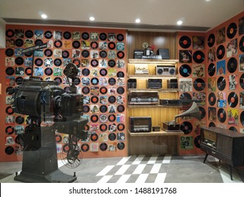 Mumbai,Maharastra/India- August 25 2019: Museum of Cinematography and film industry, records, projectors, tapes, camcorder antiques