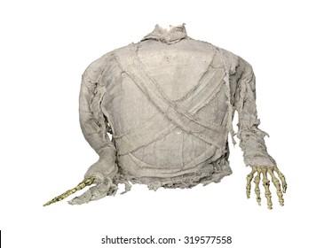 mummy horror for halloween isolate on white background.