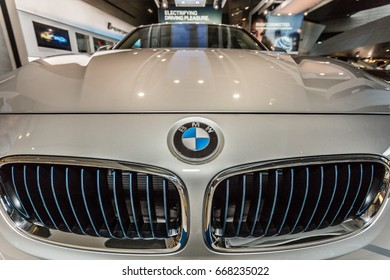 Munchen Germany - 26 June 2017: Museum bmw Welt in Munchen presented both new models and old BMW cars