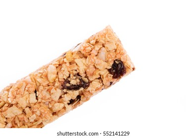 Munchies health Cereal candy bar isolated on white background.