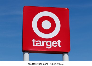 Muncie - Circa March 2019: Target Retail Store Baskets. Target Sells Home Goods, Clothing and Electronics IV