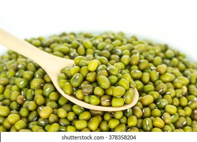 mung bean green in spoon texture