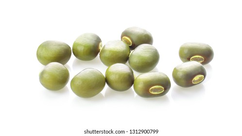 Mung beans isolated on white background.