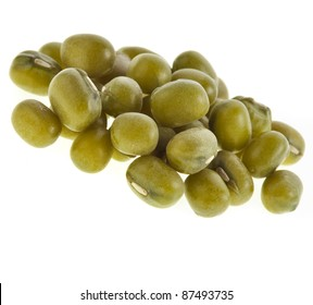 mung beans isolated on white