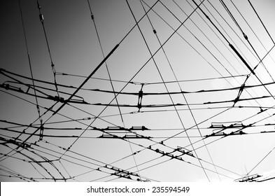 MUNI Wires in San Francisco