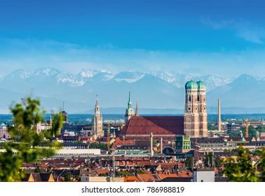 Panorama der Münchner Alpen