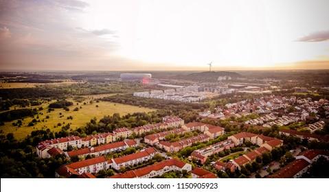 Munich Arena Drone Photo