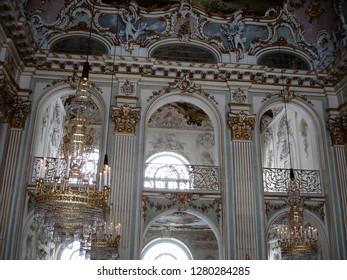 Munich, Bavaria / Germany - December 2010: Interior of Nymphenburg Palace in  Munich