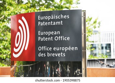Munich, Bavaria, Germany - June 21, 2019: European Patent Office headquarters in Munich, Germany - EPO is an organ of the European Patent Organisation
