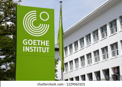 Munich, Bavaria / Germany - May 19, 2018: Goethe Institute headquarters in Munich, Germany - GI is a German cultural association operational worldwide promoting the study of the German language