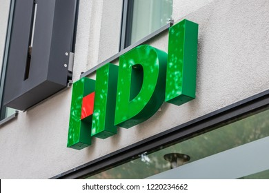 Munich, Bavaria, Germany - October 30 2018. HDI Insurance logo on a building.