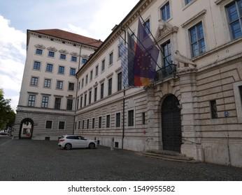 Munich, Bavaria - Sept., 28 2019: Bavarian Ministry of Economics (Staatsministerium für Wirtschaft, Infrastruktur, Verkehr und Technologie)