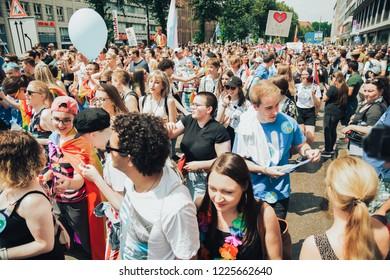 Munich, Bayern / Germany - July 14-15 2018: Pride or Christopher Street Day (CSD)