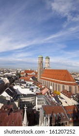 Munich, Frauenkircke and panorama from the City Hall tower