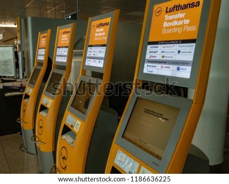 Munich Germany 09202018 Lufthansa Boarding Pass Stock Photo Edit