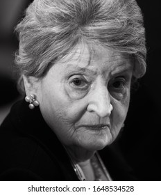 MUNICH, GERMANY - 15 Feb. 2020: 64th US Secretary of State (1997-2001) Madeleine Albright during Munich Security Conference