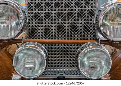 Munich, Germany, 21 January 2015: Front detail of American classic car