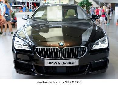 MUNICH, GERMANY - 4 AUGUST 2015: BMW 650i Individual presented at BMW World showroom in Munich, Germany.