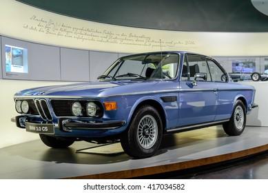 Munich, Germany, April 19, 2016 - old BMW 3.0 CS