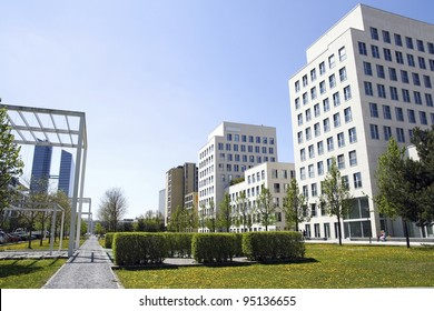 MUNICH, GERMANY - APRIL 29: recently built new business quarter and Highlight Tower on April 29, 2010 in Munich, Germany - a new location of many IT and hitec companies, hotels and services.