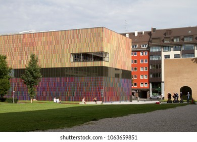 Munich, Germany - Aug 28, 2012:  Museum Brandhorst, a modern art museum