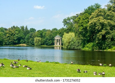 Munich, Germany - AUGUST 10, 2010:  view of the Nymphenburg Palace (Schloss Nymphenburg - Castle of the Nymphs)