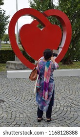 Munich, Germany - August 25, 2018: International participant at the Congress of the European Society of Cardiology