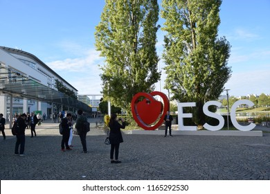 Munich, Germany  - August 27, 2018: ESC-Congress = European Society of Cardiology