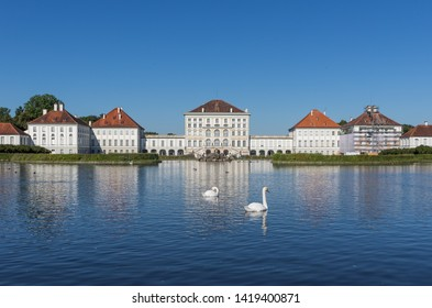 Munich, Germany - August 5th, 2016 - main summer residence of the former rulers of Bavaria, the Nymphenburg Palace is one of the Baroque palaces in Munich. Here in particular its facade