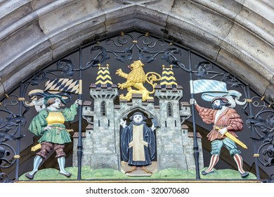 Munich, Germany, Bavaria, building decoration, coat of arms