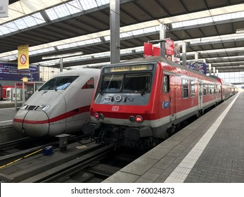 MUNICH, GERMANY, BAVAROA - OCT 10, 2017: Main Train Station in downtown Munich
