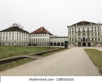 Munich, Germany - December 29, 2018: Nymphenburg Palace / Schloss Nymphenburg in Munich, Germany.