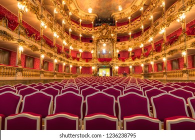 MUNICH GERMANY - December 30, 2016:  Inside famous Munich Residence theater, the former royal palace of the Bavarian monarchs of the House of Wittelsbach.