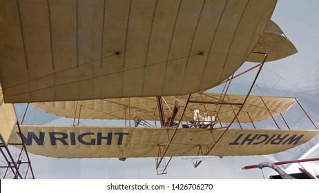 MUNICH, GERMANY - FEBRUARY 2, 2016: German Museum is the world's largest museum of science and technology also including the Historic Aviation like  Wright Standard Type A.