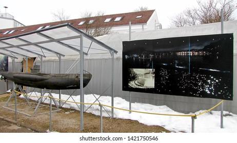MUNICH, GERMANY - FEBRUARY 21, 2015: Bavaria Film is one of Europe's largest film production companies, Wolfgang Petersen filmed hier his famous submarine movie, Das Boot.