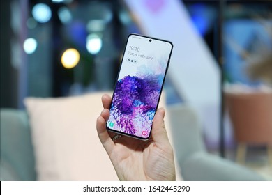 Munich, Germany – February 4, 2020: Samsung announced a new flagships Galaxy S20