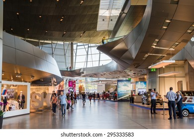 MUNICH, GERMANY - JULY 1, 2015: BMW Welt, a customer experience and exhibition facility of the BMW AG, Munich, Germany