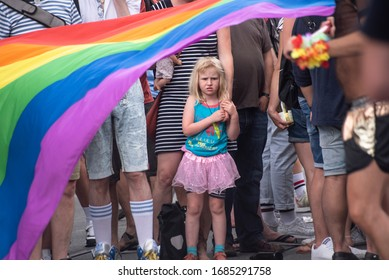 Munich/ Germany - July 14 2018 : The atmosphere at Pride CSD Munich