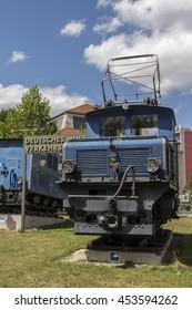 MUNICH, GERMANY - JULY 30, 2015: The Bayerische Zugspitzbahn (Bavarian Zugspitze Railway) is located in the alps, the locomotives are exposed at the Deutsches Museum Verkehrszentrum (German Museum)