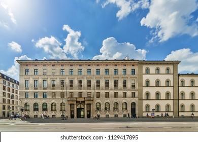Munich, Germany June 09, 2018: The Bavarian Administrative Court (Bayerischer Verwaltungsgerichtshof) is the head of the administrative jurisdiction in the federal state of Bavaria.