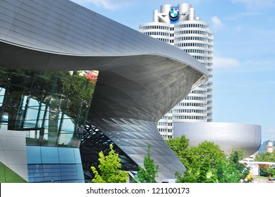 MUNICH - GERMANY JUNE 12: BMW building museum on June 12, 2011, Munich, Germany. The BMW Museum is located near the Olympiapark in Munich and was established in 1972 shortly before the Summer Olympics