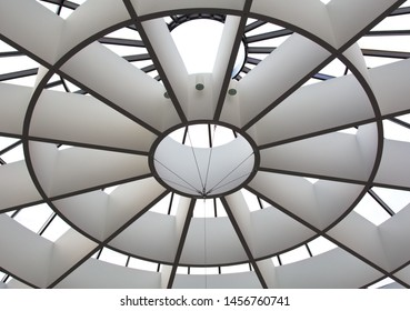 Munich, Germany - June 23, 2019: The dome of Pinakothek der Moderne museum, gallery of the Modern in Munich
