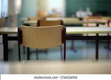Munich, Germany. June 26, 2020. An unused Bavarian school classroom in the week education minister Piazolo tells schools to plan to welcome all students back in September if Corona rates permit.