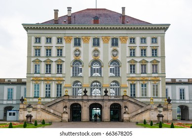 Munich, Germany - June 8. 2016: The Nymphenburg Palace - Castle of the Nymphs is a Baroque palace in Munich, Bavaria, Germany. The palace is the main summer residence of the former rulers of Bavaria.