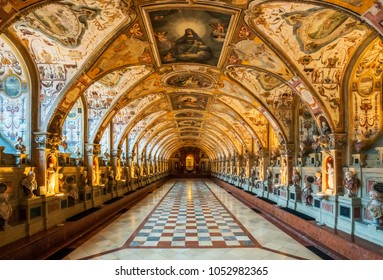 MUNICH GERMANY - March 14, 2018: The Munich Residence served as the seat of government and residence of the Bavarian dukes, electors and kings from 1508 to 1918