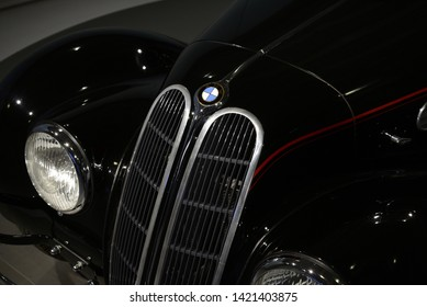MUNICH, GERMANY - MARCH 5, 2016: BMW 327/28 classic German 1930s sport luxury executive pre-war car in the BMW Museum