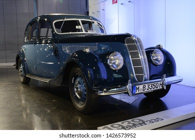 MUNICH, GERMANY - MARCH 5, 2016: BMW 335 1939 classic German 1930s executive luxury car in the BMW Museum