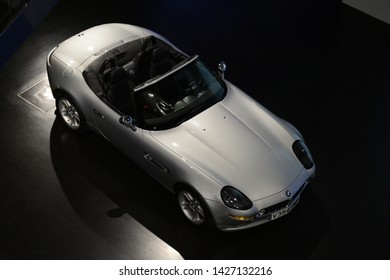 MUNICH, GERMANY - MARCH 5, 2016: BMW Z8 1999 classic German luxury executive roadster cabriolet car in the BMW Museum
