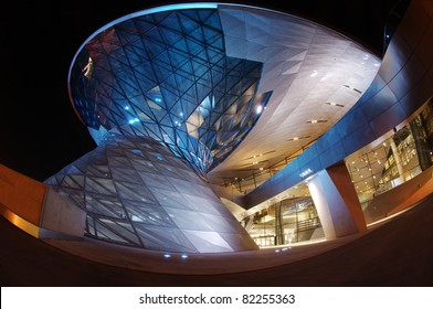 MUNICH, GERMANY - MARCH 8: BMW World (BMW Welt) on March 8, 2008 in Munich, Germany. BMW World is a multi-functional customer experience and exhibition facility of the BMW AG.