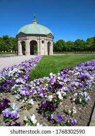 Munich, Germany – May 12h,2020 Pavilion for the goddess Diana in the center of the Hofgarten (Court Garden) in Munich, Germany